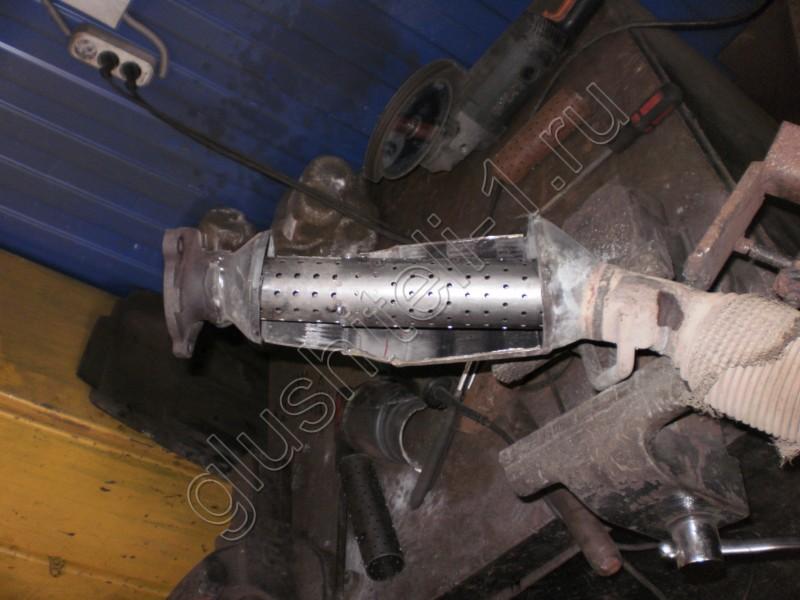 Как сделать пламегаситель из катализатора